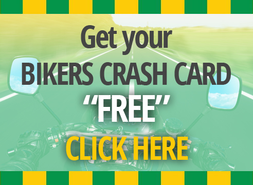 Free Bikers Crash Card on all4bikers.com